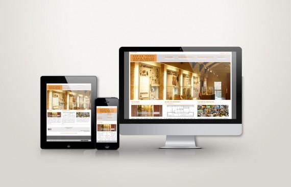 Web responsive de Garjon Torres vista en tres pantallas, tablet, móvil y ordenador