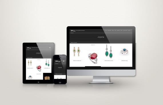 Web responsive de Joyería Berna vista en tres pantallas, tablet, móvil y ordenador