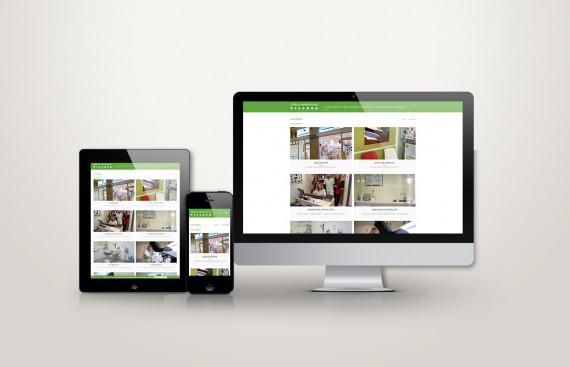 Web responsive de Clinica Veterinaria Villava vista en tres pantallas, tablet, móvil y ordenador