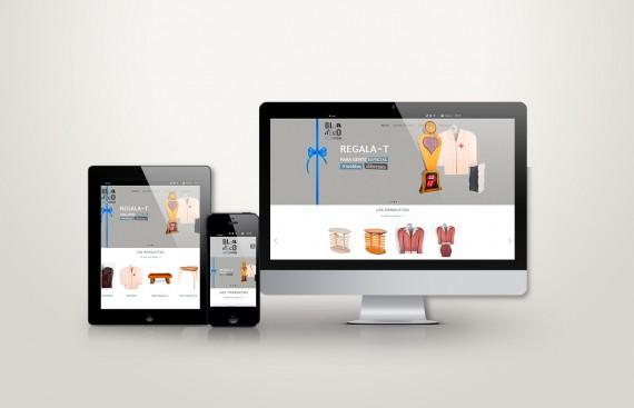 Web responsive de Dadadeco vista en tres pantallas, tablet, móvil y ordenador
