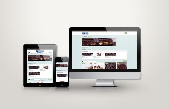 web responsive de donezar vista en tres pantallas, tablet, móvil y ordenador