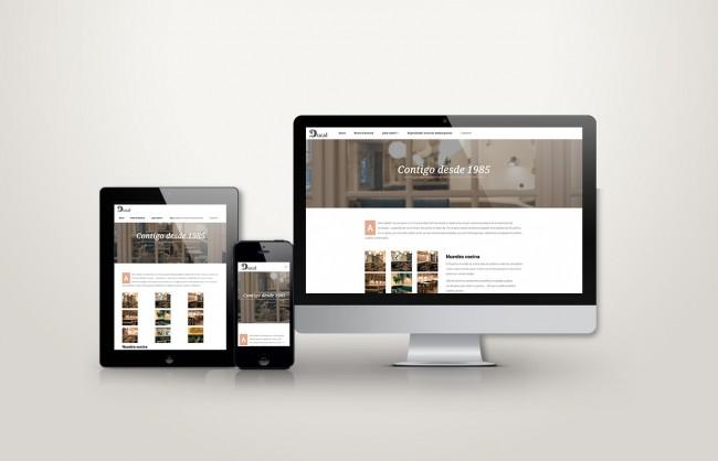 web responsive de el ducal vista en tres pantallas, tablet, móvil y ordenador