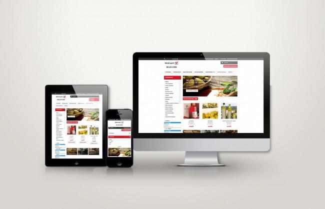 Web responsive de proclint vista en tres pantallas, tablet, móvil y ordenador