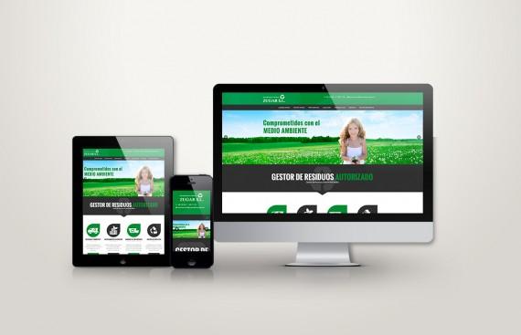 web responsive de Contenedores Zugar vista en tres pantallas, tablet, móvil y ordenador