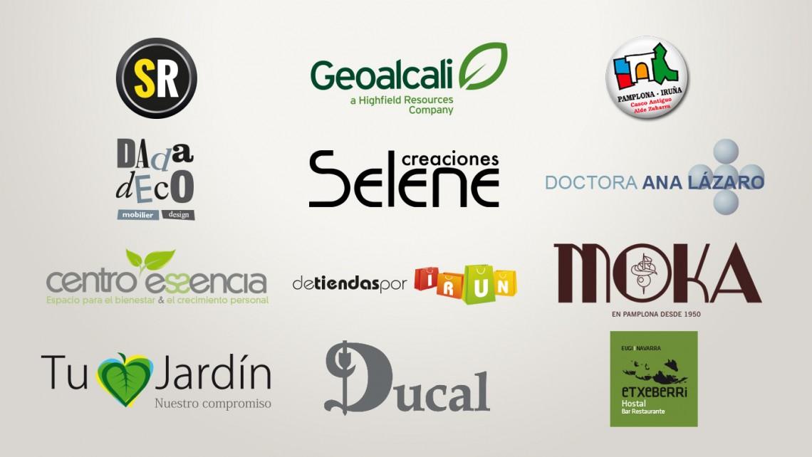 imagenes corporativas de diferentes empresas creadas por navarraweb