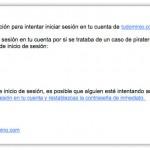 Correo malicioso desde service@tudominio.com