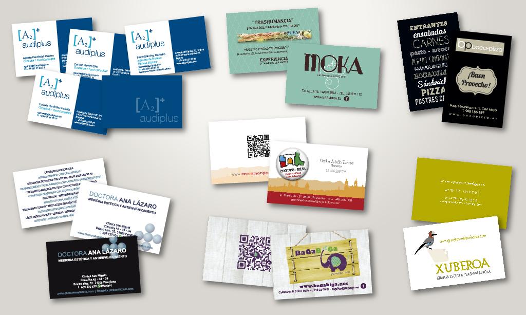 tarjetas de visita de diversos cilentes