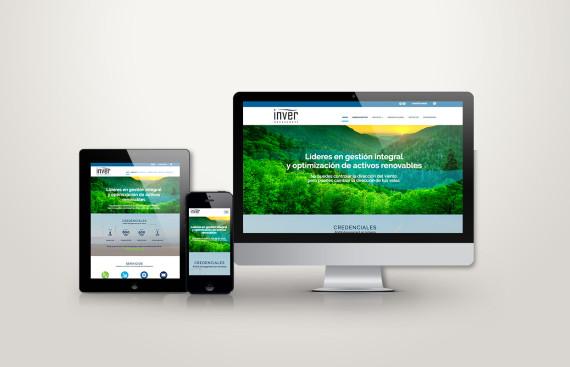 web responsive de inver vista en tres pantallas, tablet, móvil y ordenador