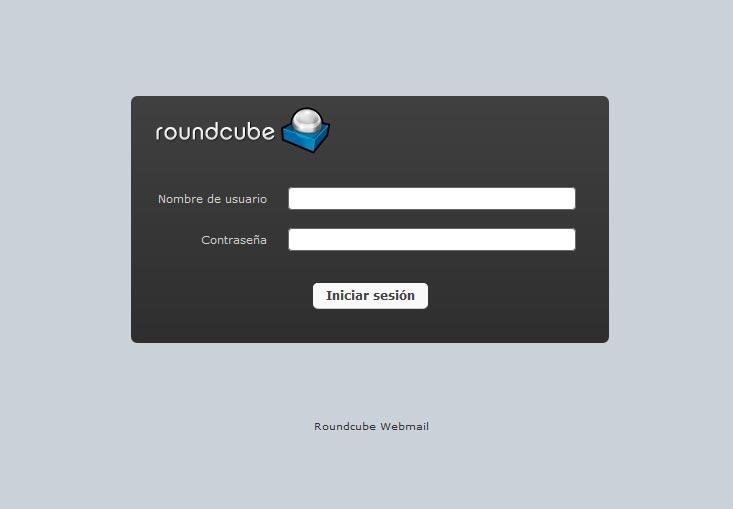 Acceso al webmail de Roundcube